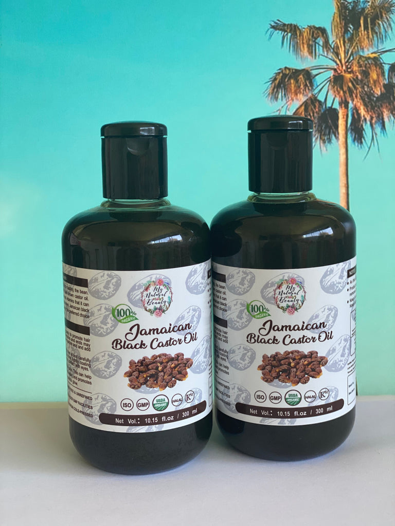 My Natural Beauty Organic Jamaican Black Castor Oil 2x 300 ML Bottles