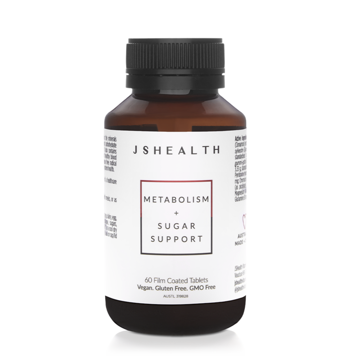 JS HealthMETABOLISM + SUGAR SUPPORT FORMULA - 60 TABLETS Supports the metabolism of glucose, carbohydrates, lipids, proteins, and manages sugar cravings.