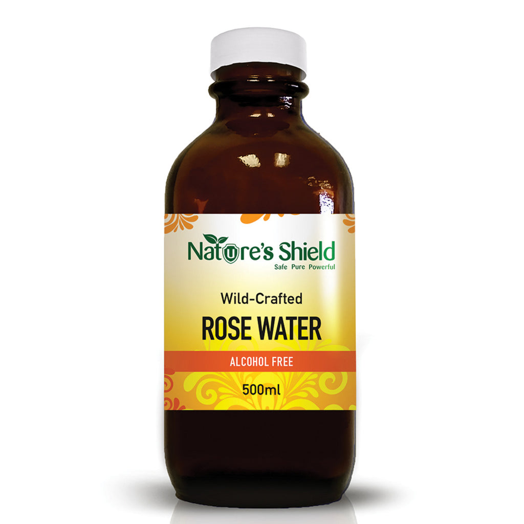 Nature's Shield Wild-Crafted Rose Water 500ml. Buy online Australia