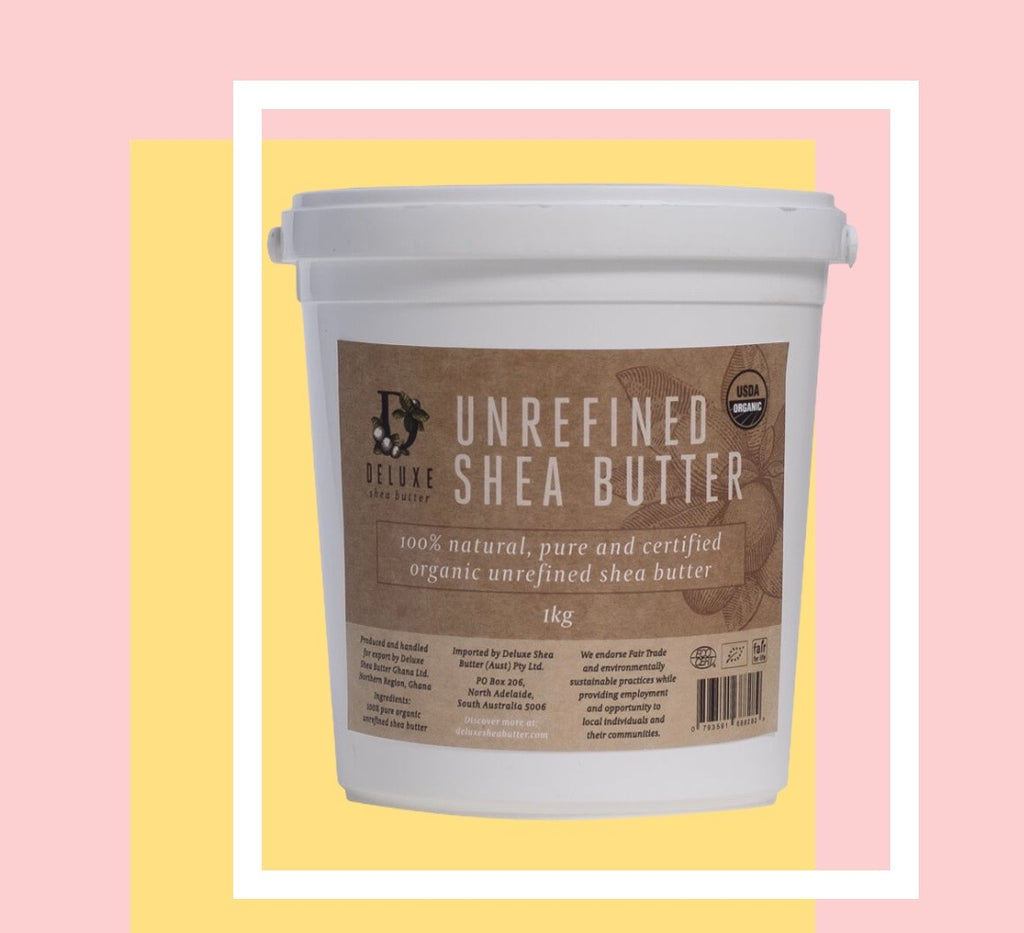 Deluxe Shea Butter Tub 2x 1kg Tubs- 100% natural, pure and certified organic unrefined shea butter