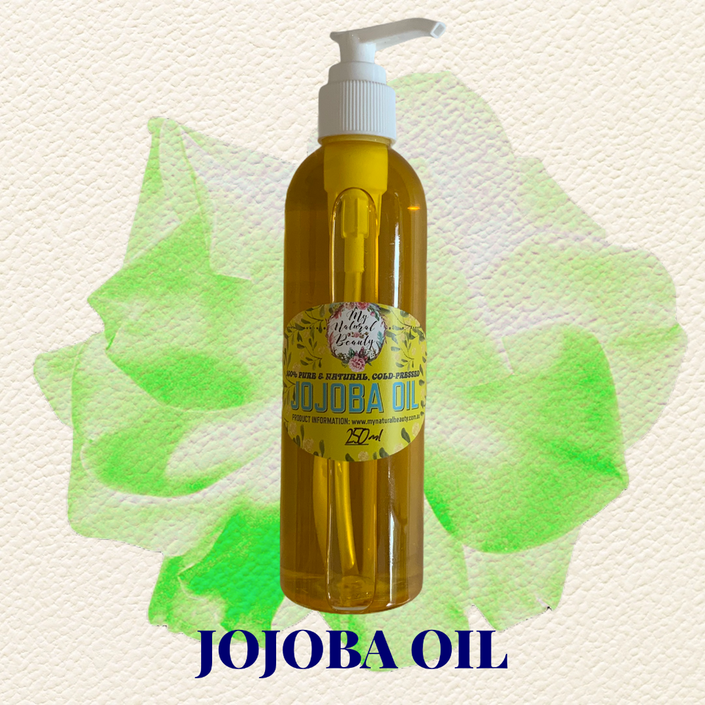 100% Pure Virgin Jojoba Oil  Ingredients- 100% Simmondsia Chinensis Seed Oil (Jojoba Oil)). 250ml Pump bottle