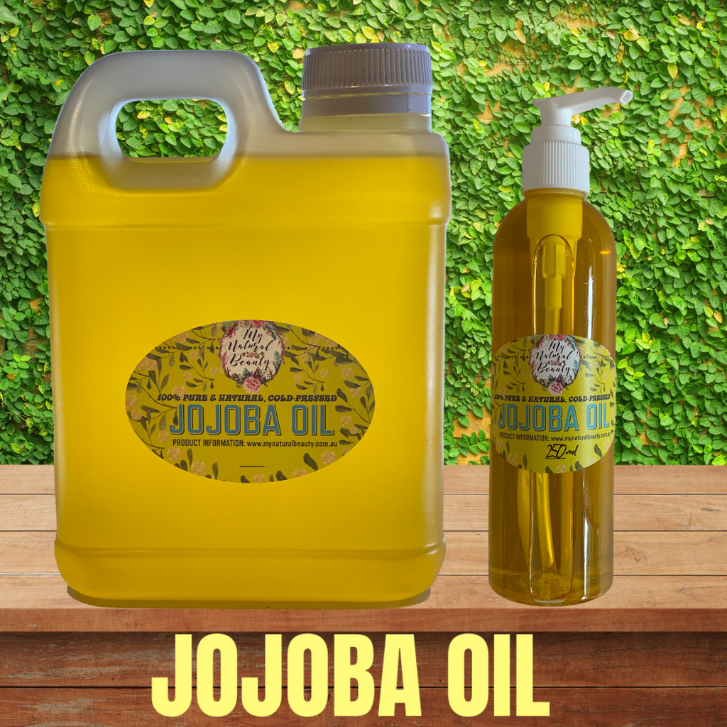 Jojoba is a liquid wax ester, that matches our skin's natural oils, which means your skin allows it to penetrate deeper to nourish and heal. Jojoba oil has the same molecular structure as the sebum on our skin. Sebum is the wax ester on skin that helps you to stay youthful by preventing and filling out wrinkles and lines.