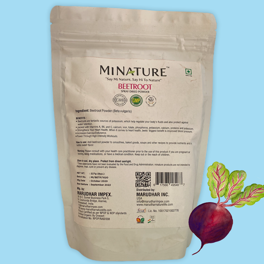 CONCENTRATED BEETROOT POWDER- Net Weight- 227g (8oz.)