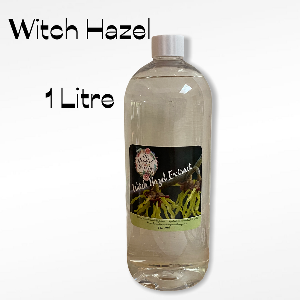 Some of the uses of witch hazel extract include:  as a facial toner as a facial cleanser to reduce appearance of acne blemishes to clean dog's ears for tick removal as a household cleaner with lemon juice and baking soda as a jewellery cleaner and much more!. Toner, cleanser, astringent. Australia