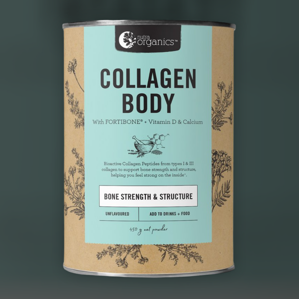 Collagen Body. Nutra Organics. Amazing reviews. Bone health. For bone strength and structure.