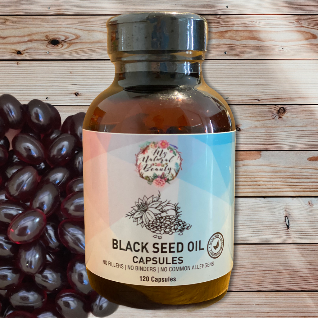 Containing 100% Pure Black Seed Oil, My Natural Beauty's Black Seed Oil Capsules are contained in veggie-caps, ensuring a vegetarian and vegan-friendly product.   Each serve of two capsules contains 900mg of Black Seed oil.     May be of benefit for the following:  •	Type II Diabetes •	Fungal and Bacterial Infections •	Respiratory Issues •	Digestive Issues •	Arthritis •	Joint health •	Allergy Management •	Immunity Support  •	Asthma