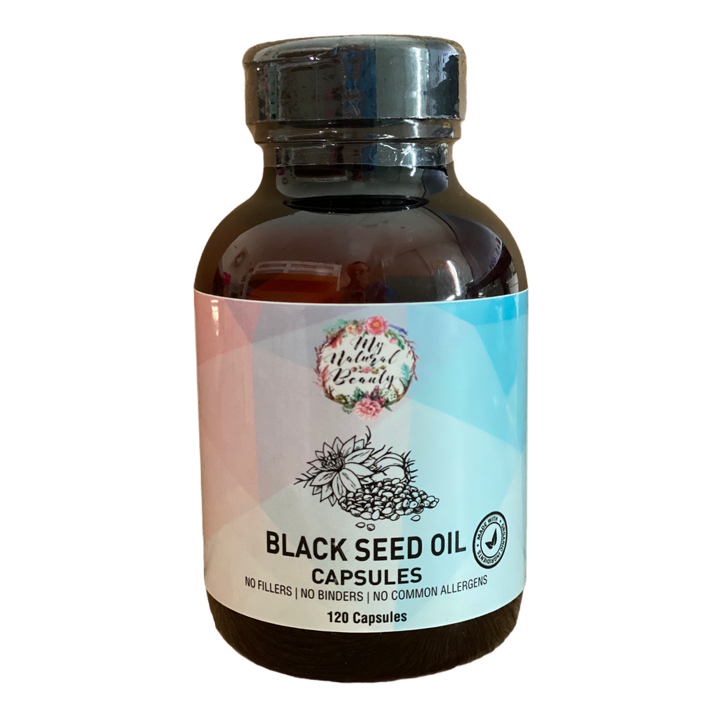 My Natural Beauty's Black Seed Oil capsules are: •	Highest Quality •	High in Nutrients •	Anti-Oxidant •	Rich in Omega 3, 6 & 9 •	No additives •	No preservatives •	Made with Food Grade Organic Ingredients •	No Animal Testing •	Non-GMO •	Chemical Free •	100% Natural •	100% Pure •	100% Vegan