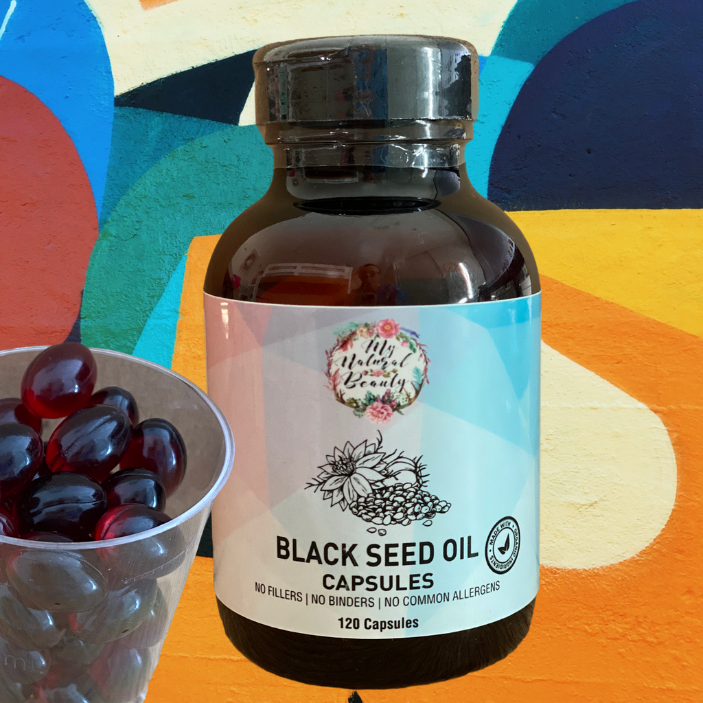 SOME OF THE MANY BENEFITS OF BLACK SEED OIL •	Boosts immune system function* •	Supports healthy heart, skin and hair* •	Supports joint comfort and mobility* •	Supports metabolism and liver health*  •	Rich in nutrients, omegas and aminos* •	Highly Nutritious* •	Powerful antioxidants* •	Anti-Inflammatory* •	Rich in Omega 3, Omega 6 and Omega 9*  *These statements have not been evaluated by the Food and Drug Administration. This product is not intended to diagnose, treat, cure or prevent any disease.