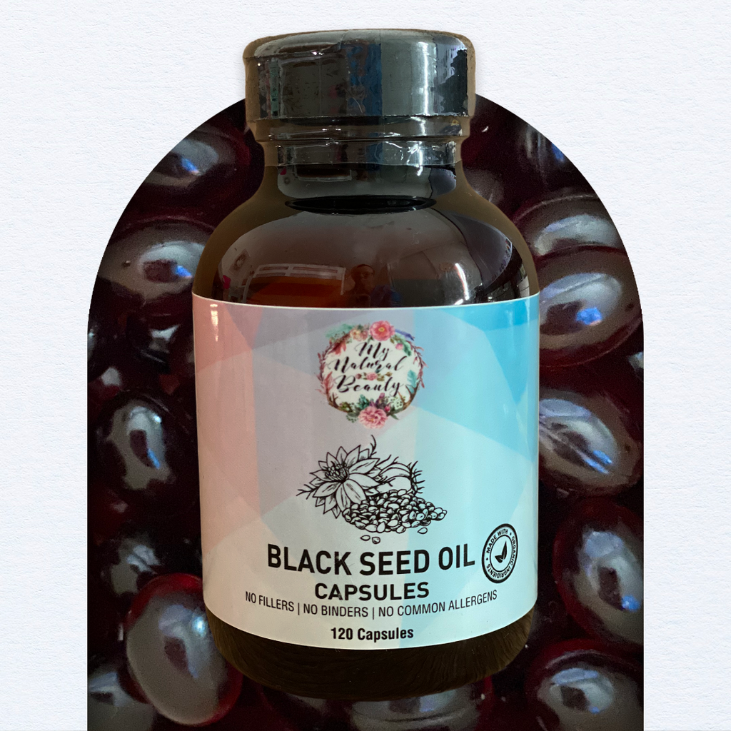 My Natural Beauty's Black Seed Oil capsules are the supplement of choice that may help support a healthy immune system. These capsules are rich in antioxidants and contain an abundance of essential fatty acids. Regular use may help to maintain a healthy immune system, giving it the power to ward off infections.   Containing 100% Pure Black Seed Oil, My Natural Beauty's Black Seed Oil Capsules are contained in veggie-caps, ensuring a vegetarian and vegan-friendly product.   Each serve of two capsules contain