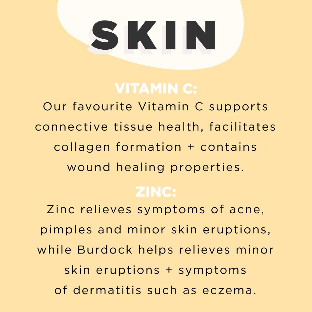 Skin. Vitamin C and Zinc. Relieve acne. Vitamins for acne.  acne, pimples, and minor skin eruptions
