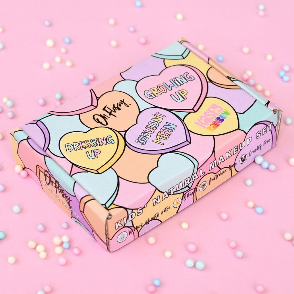 Kasey Rainbow Oh Flossy Candy Heart make-up set