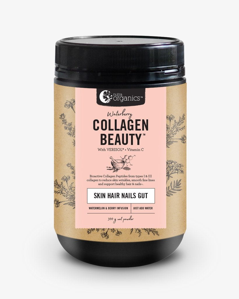 Nutra Organics Collagen Beauty- Waterberry- 300g. Buy online Australia.
