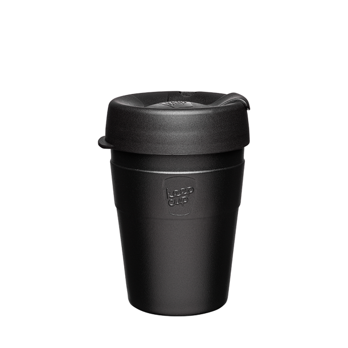 Black thermal reusable keep cup KeepCup Sydney Northern Beaches Australia . Free shipping over $60. Free local pick up Cromer