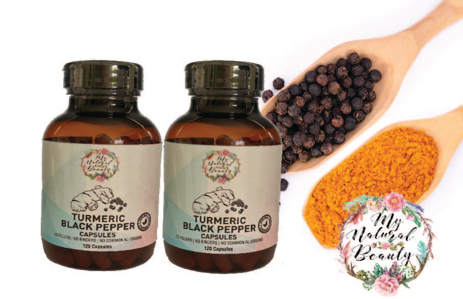 Turmeric and Black Pepper Capsules. 4 months supply