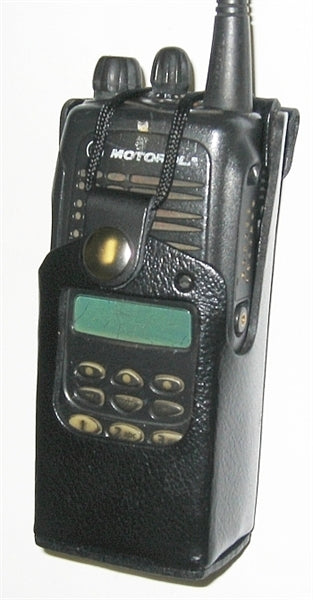 HLN9694 LEATHER CARRYING CASE FOR MOTOROLA HT1250 SERIES RADIO WB#WV-2056B(LEATHER PARTIAL KEYPAD)