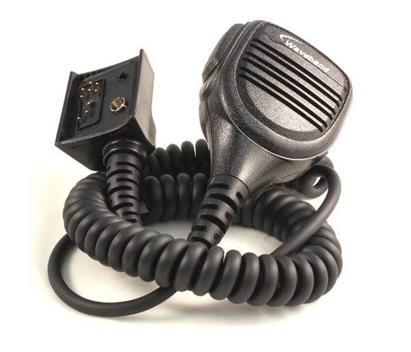 Harris M/A-Com P7100 Lapel Speaker Mic with 3.5mm accessory jack and emergency button