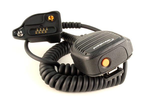 Heavy duty remote speaker microphone for M/A Com P7300, P5500, P5400, P5300, and XG-75 Portables WB# WX-8010-E4-3.5mm-EB
