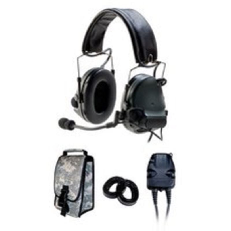 88064-00000 3M Peltor Dual Comm ComTac III w/Split Audio and Single Downlead ACH/MICH Helmet - First Source Wireless