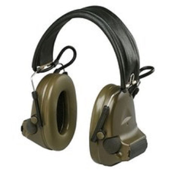 3M PELTOR MT15H69FB-09 GREEN TWO-WAY RADIO HEADSET - (2) X AA BATTERY POWERED - 093045-98217 - First Source Wireless