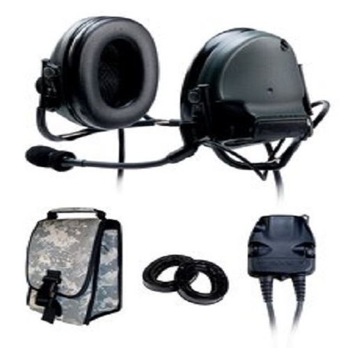 3M(TM) Peltor(TM) COMTAC(TM) III KIT - DUAL COMM- BACK BAND - FOLIAGE GREEN - RADIOS: AN/PRC-148, AN/PRC-152, AN/PRC-117, AN/PRC-119 - First Source Wireless
