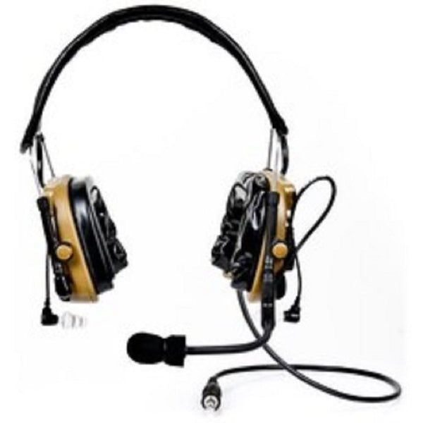 3M 88404-00000 Peltor ComTac IV Hybrid Communication Headset Dual Comm Kit, Coyote Brown - First Source Wireless