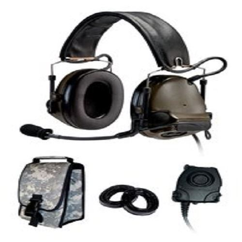 3M Peltor COMTAC III ACH KIT - SINGLE COMM - HEADBAND - O.D. GREEN- RADIOS: AN/PRC-148,AN/PRC-152, AN/PRC-117, AN/PRC-119 - First Source Wireless
