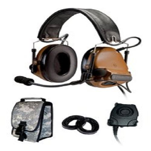 3M Peltor COMTAC III KIT - SINGLE COMM - Back Band- COYOTE BROWN- RADIOS: AN/PRC-148, AN/PRC-152, AN/PRC-117, AN/PRC-119