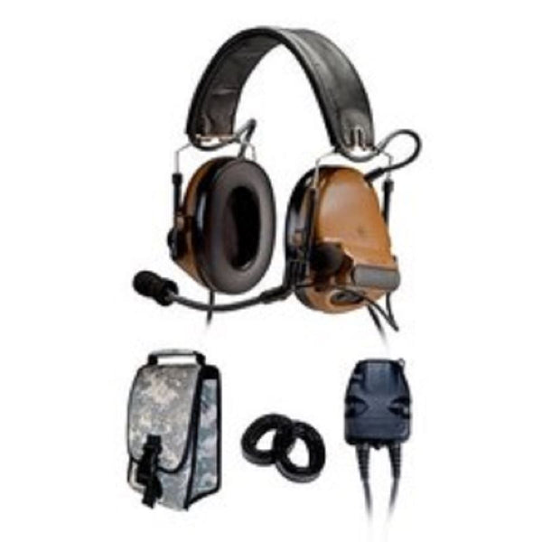 3M(TM) Peltor(TM) COMTAC(TM) III KIT - DUAL COMM - BACK BAND - COYOTE BROWN- RADIOS: AN/PRC-148, AN/PRC-152, AN/PRC-117, AN/PRC-119 - First Source Wireless
