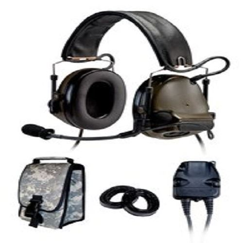 3M(TM) Peltor(TM) COMTAC(TM) III KIT - DUAL COMM - BACK BAND- COYOTE BROWN- RADIOS: AN/PRC-148, AN/PRC-152, AN/PRC-117, AN/PRC-119 - First Source Wireless