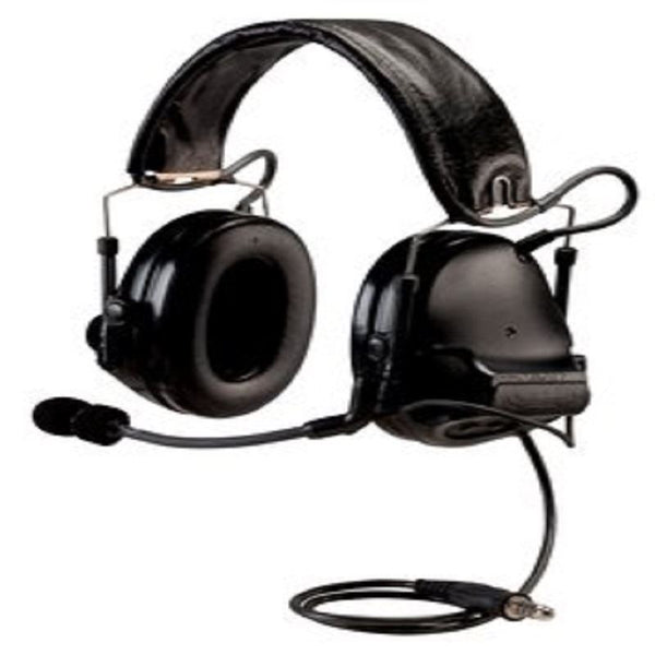 3M PELTOR ComTac ACH Communication Headset MT17H682FB-49 SV, Dual Comm, Single Downlead, Flexi Boom Mic, Black 1 EA/Case