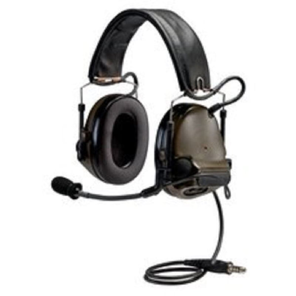 3M PELTOR ComTac ACH Communication Headset MT17H682FB-49 GN, Dual Comm, Single Downlead, Flexi Boom Mic, O.D. Green 1 EA/Case