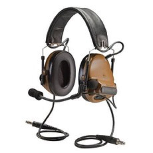"3M PELTOR ComTac ACH Communication Headset MT17H682FB-19 CYH, Dual Comm, 20"" Straight Dual Downlead, Coyote Brown 1 EA/Cas - First Source Wireless"