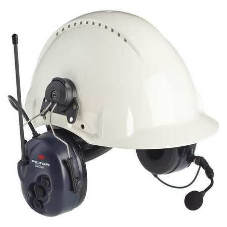 3M Peltor LiteCom Plus Two Way Radio Headset, MT7H7P3E4610-NA, Hard Hat Attached, 1 EA/Case
