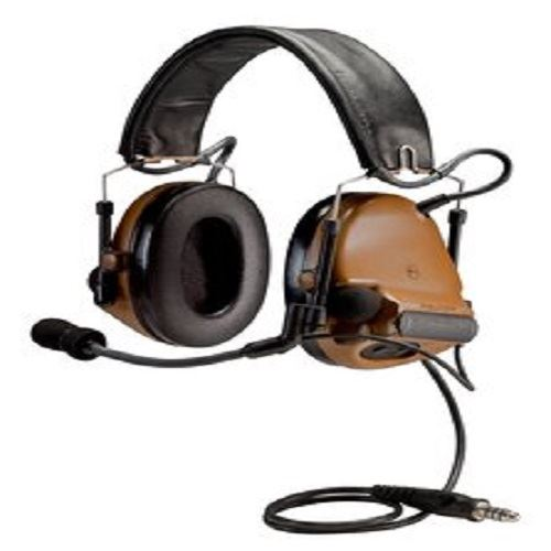 "3M Peltor ComTac ACH ARC Communication Headset MT17H682P3AD-49 CY, Dual Comm, 20"" Straight Single Downlead, Coyote Brown, 1 ea/cs"