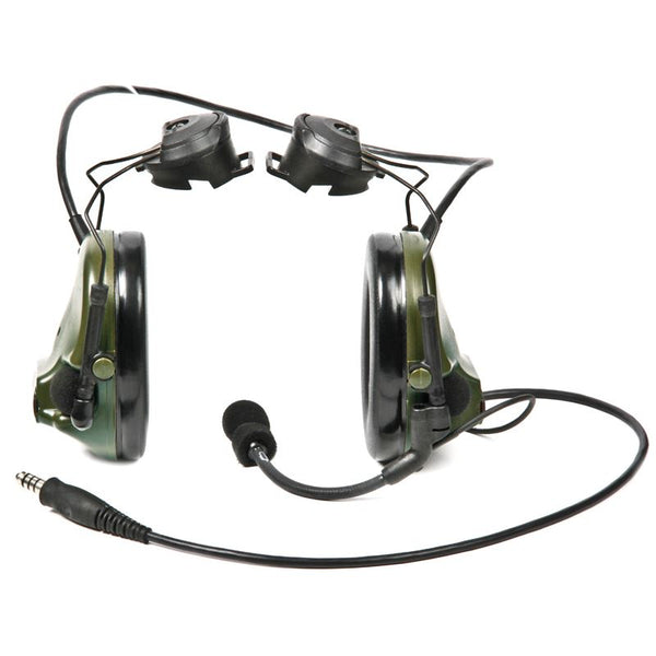 "3M(TM) Peltor(TM) ComTac ACH ARC Communication Headset MT17H682P3AD-49 FG, Dual Comm, 20"" Straight Single Downlead, Foliage Green, 1 ea/cs - First Source Wireless"