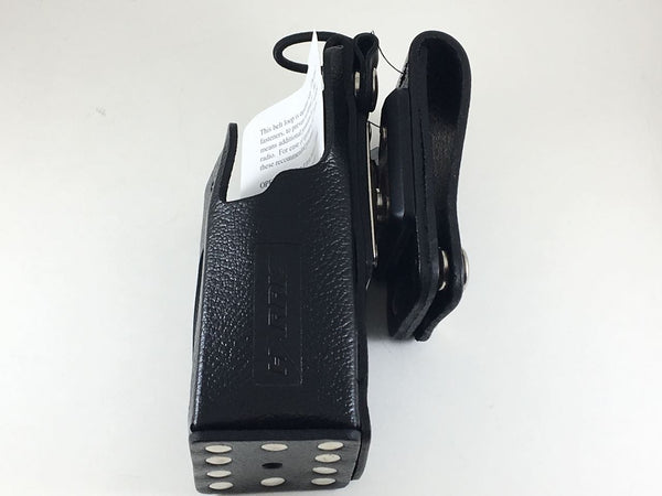 CC-014528-003 Harris OEM P5400, Case, Stnd, Leather, Belt Loop & Swivel - First Source Wireless
