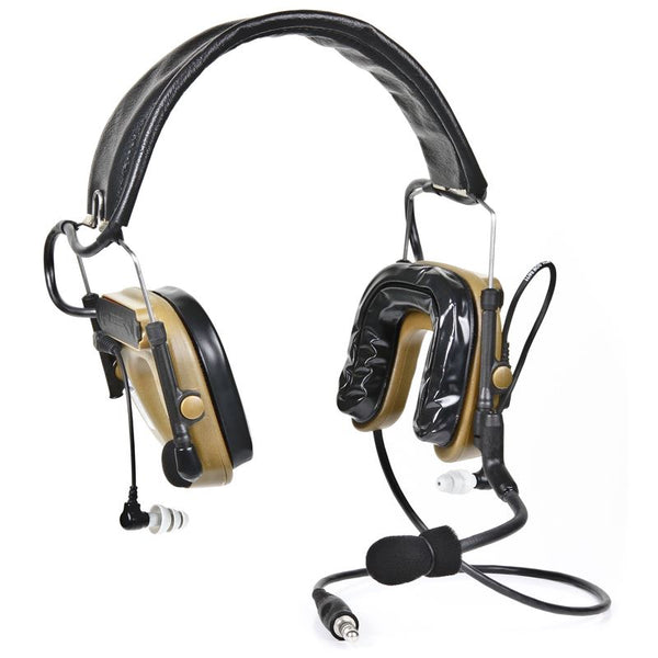 3M(TM) PELTOR(TM) COMTAC(TM) IV Hybrid Communication Headset, Single Comm, Flexi Boom Mic, Coyote Brown, MT16H044FB-47 CY 1 EA/Case