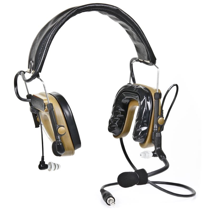 3M(TM) PELTOR(TM) COMTAC(TM) IV Hybrid Communication Headset, Single Comm, Flexi Boom Mic, Coyote Brown, MT16H044FB-47 CY 1 EA/Case - First Source Wireless