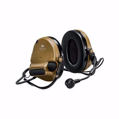 Coyote Brown 3M ComTac VI NIB Hearing Defender Back Band Headset - First Source Wireless
