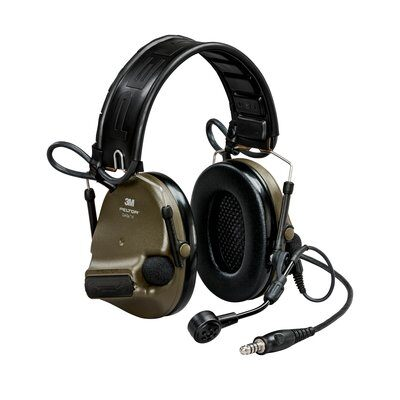 O.D Green 3M Peltor ComTac VI Single Comm Headset Military Kit