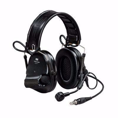 Black 3M PELTOR Swat-Tac VI NIB Single Comm Headband Headset