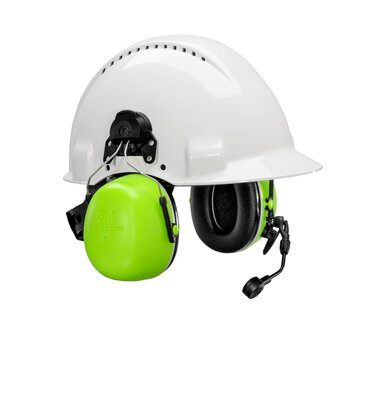 3M PELTOR CH-5 High Attenuation Headset - MT73H450P3E-77 GB - Flex Connector - Hard Hat Attached - 29dB NRR - First Source Wireless