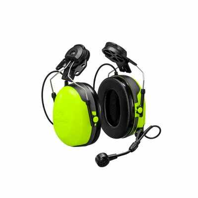 3M Peltor CH-3 Headset with PTT Hard Hat Attachment MT74H52P3E-111 - First Source Wireless