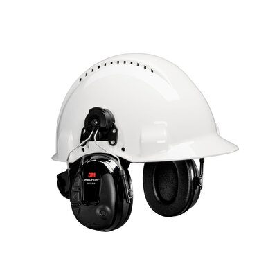 3M PELTOR ProTac III Slim Headset, Black, Hard Hat Attached case of 10 - First Source Wireless