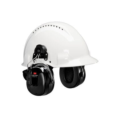 3M PELTOR WorkTunes Pro AM/FM Radio Headset, Black, Hard Hat Attached - First Source Wireless