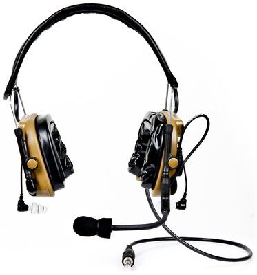 3M™ PELTOR™ ComTac™ IV Hybrid Communication Headset Single Comm Kit 88403-00000, Coyote Brown 1 Kit EA/Case