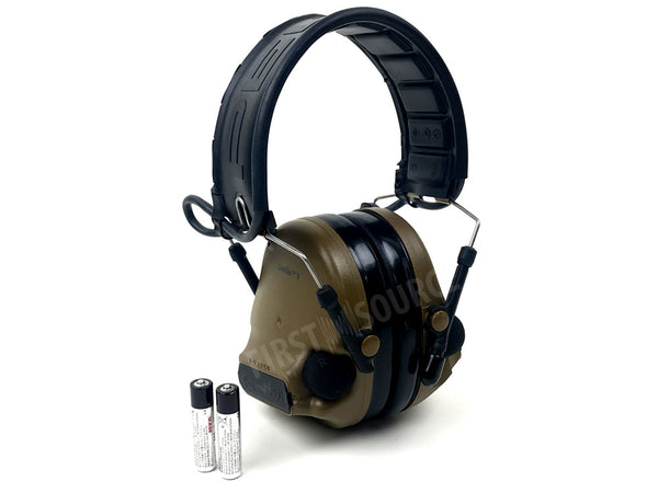 3M PELTOR ComTac V Hearing Defender Headset MT20H682FB-09 CY, Foldable, Coyote Brown - First Source Wireless