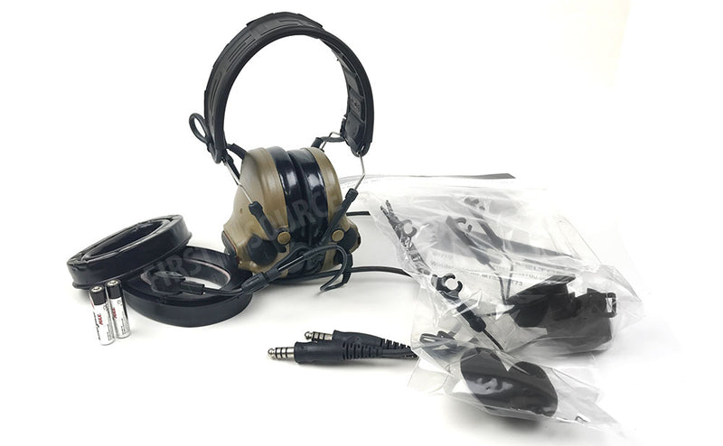 Coyote Brown 3M Peltor Comtac VI NIB Dual Comm Headset - First Source Wireless