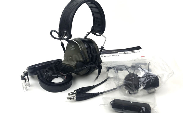 O.D. Green 3M ComTac VI NIB Duel Comm Headset - First Source Wireless