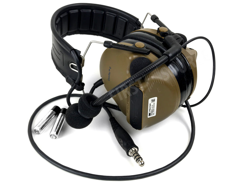 3M PELTOR ComTac V Headset MT20H682FB-47 CY, Foldable, Single Lead, Standard Dynamic Mic, NATO Wiring, Coyote - First Source Wireless